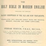 Ferrar Fenton Bible