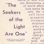 May Rowland The Seekers of the Light Are One