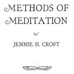 Methods of Meditation by Jenny Croft