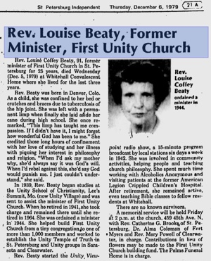 Louise Beaty - Unity Minister