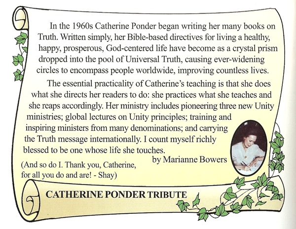 Tribute to Catherine Ponder by Marianne Bowers