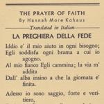 Preghiera Della Fede
