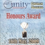 Nigerian Unity Honours Award 2009 Program Cover
