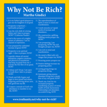 TruthUnity Postcard - Why Not Be Rich? By Martha Giudici