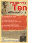 Prosperity's Ten Affirmations TruthUnity Postcard
